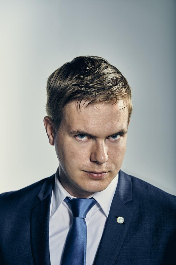 Miljöpartiets Språkrör Gustav Fridolin för magasinet Fokus