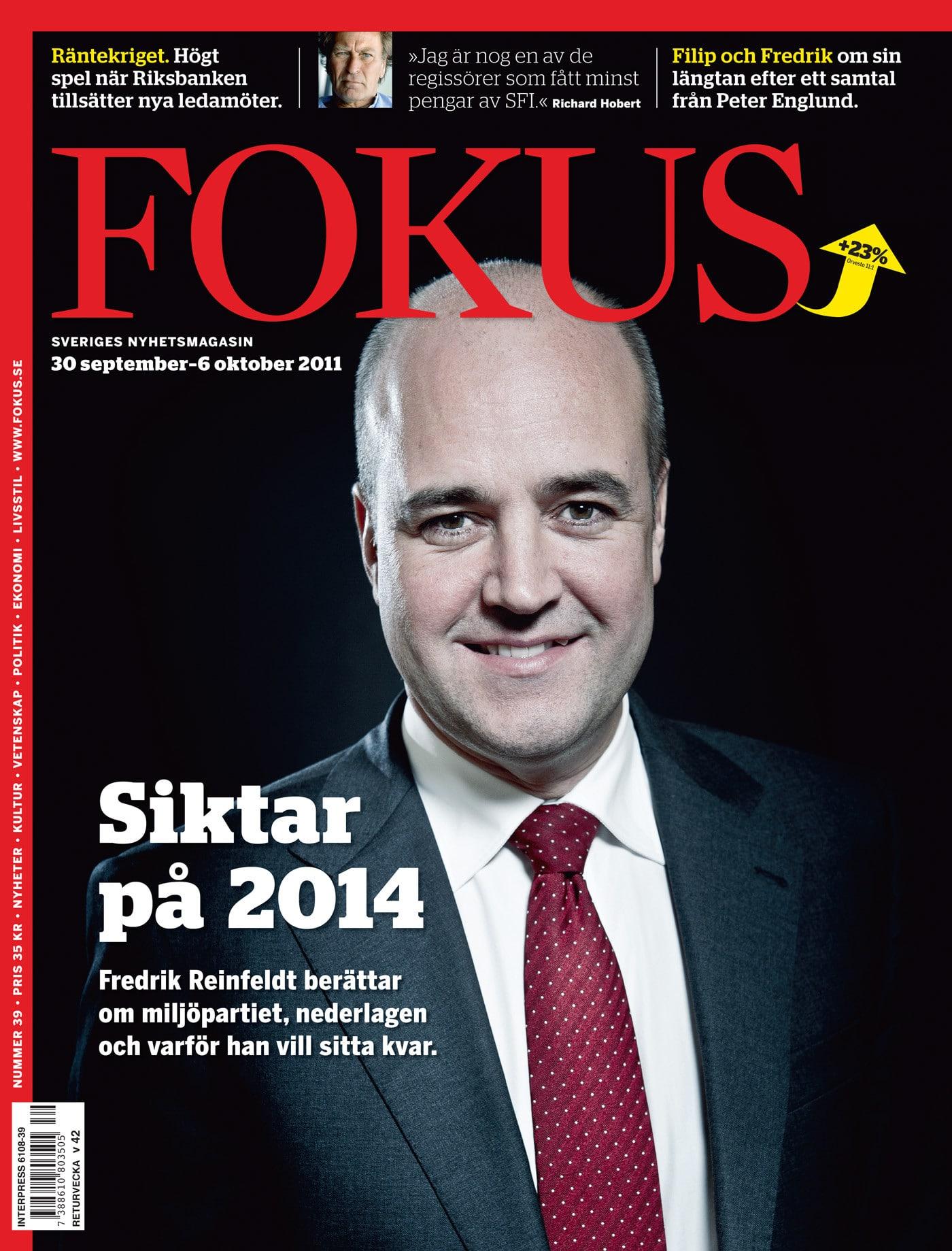 Fredrik Reinfeldt för Fokus