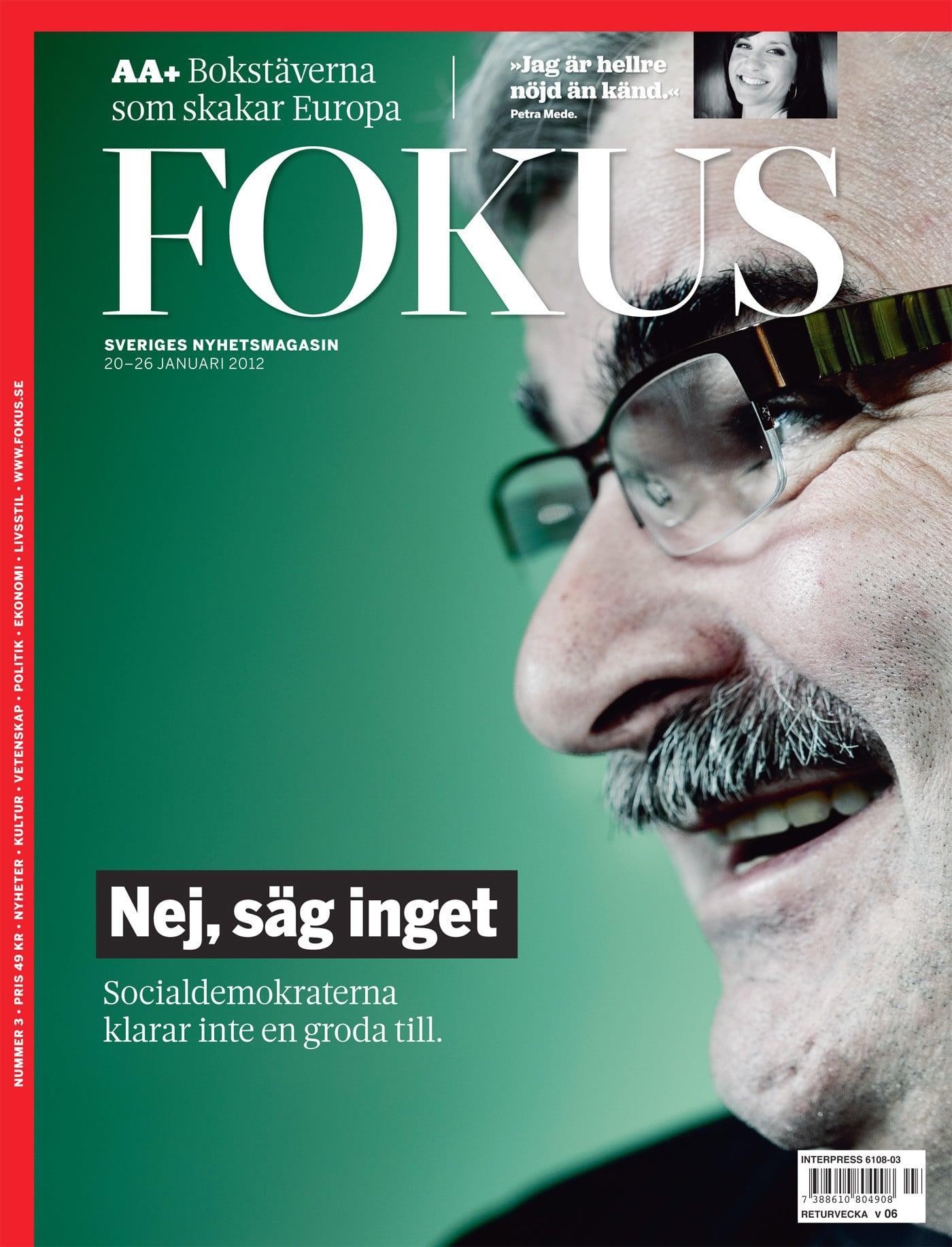 Håkan Juholt för Fokus